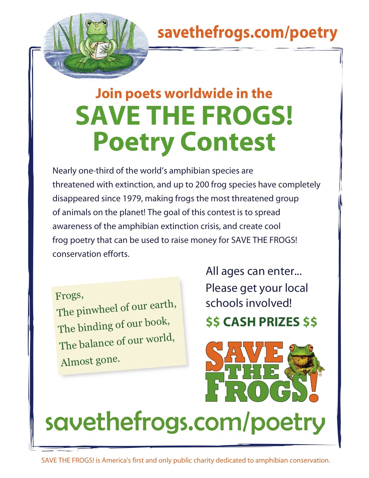Cash prizes poetry contests
